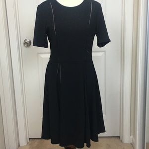 Taylor Black Dress with nude lining details